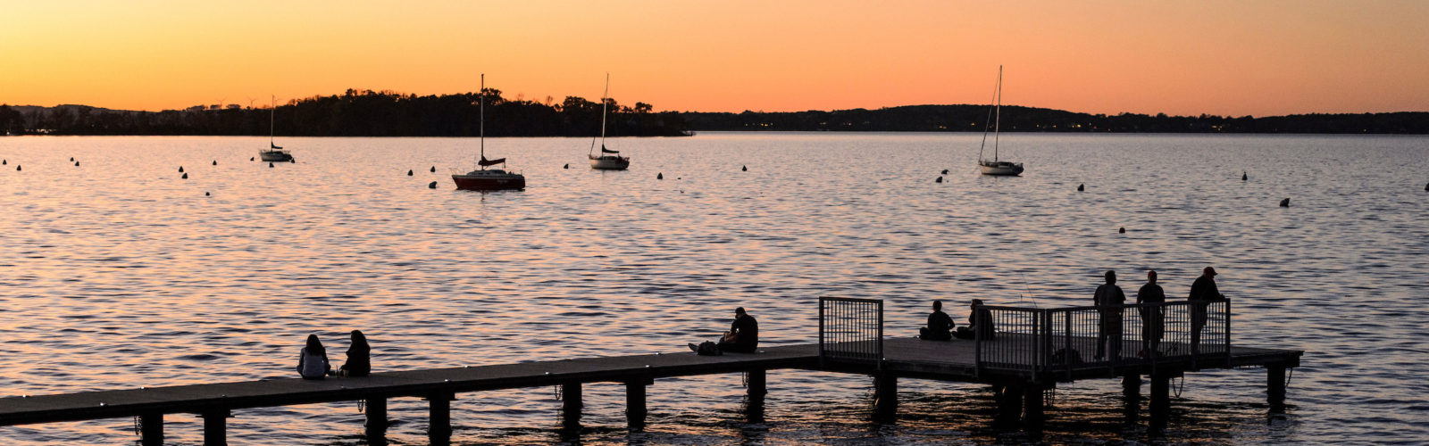 Godspeed Pier at sunset